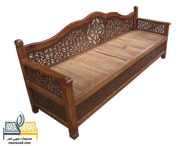تخت سنتی nasr07i سایز 2 در 60 قهوه ای روشن