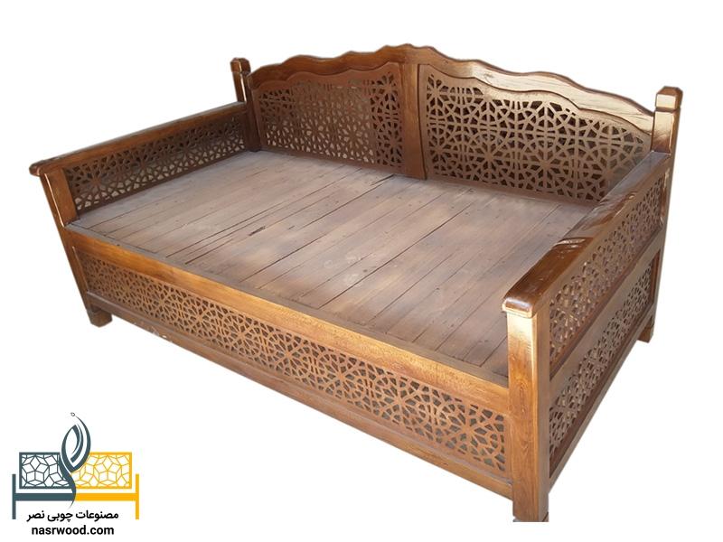 تخت سنتی nasr01t2 سایز 2 در 1 عسلی