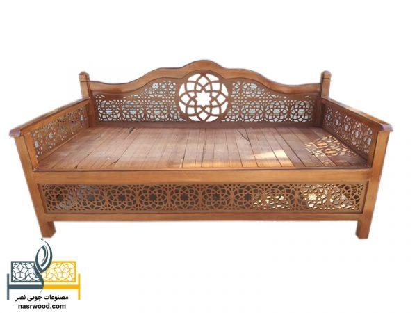 تخت سنتی nasr17i سایز 2 در 1 عسلی