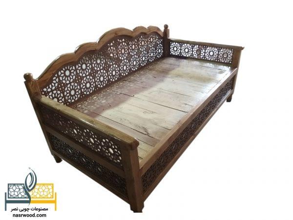 تخت سنتی nasr12n سایز 2 در 1 عسلی