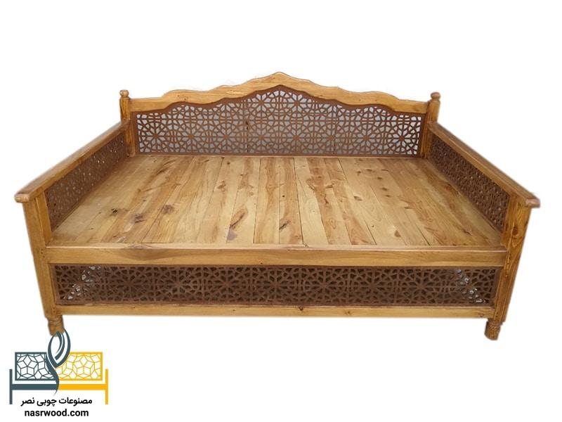 تخت سنتی nasr01s سایز 2 در 1 عسلی