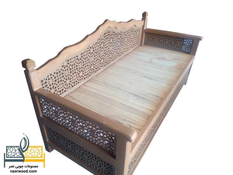 تخت سنتی nasr01s سایز 2 در 1
