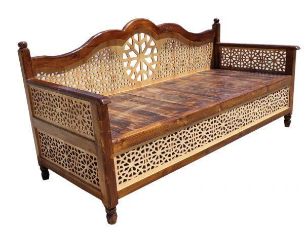 تخت سنتی nasr01i سایز 2 در 80