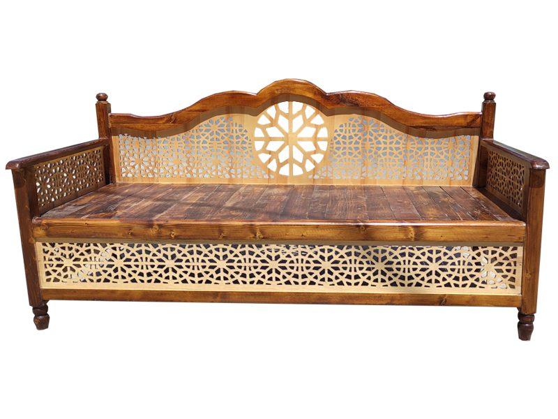 تخت سنتی nasr01i قهوه ای روشن