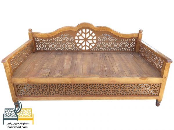 تخت سنتی nasr01i سایز 2 در 1 عسلی