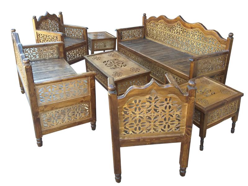 مبلمان 7 نفره nasr-7xs5 به همراه 3 میز