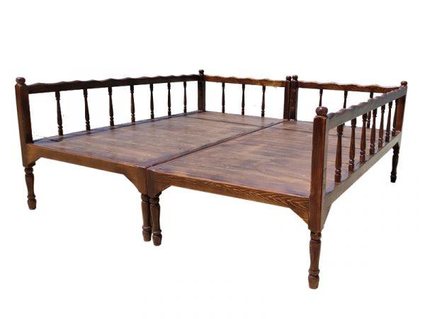 ست تخت سنتی ساده nasr-x8sa سایز 2 در 2