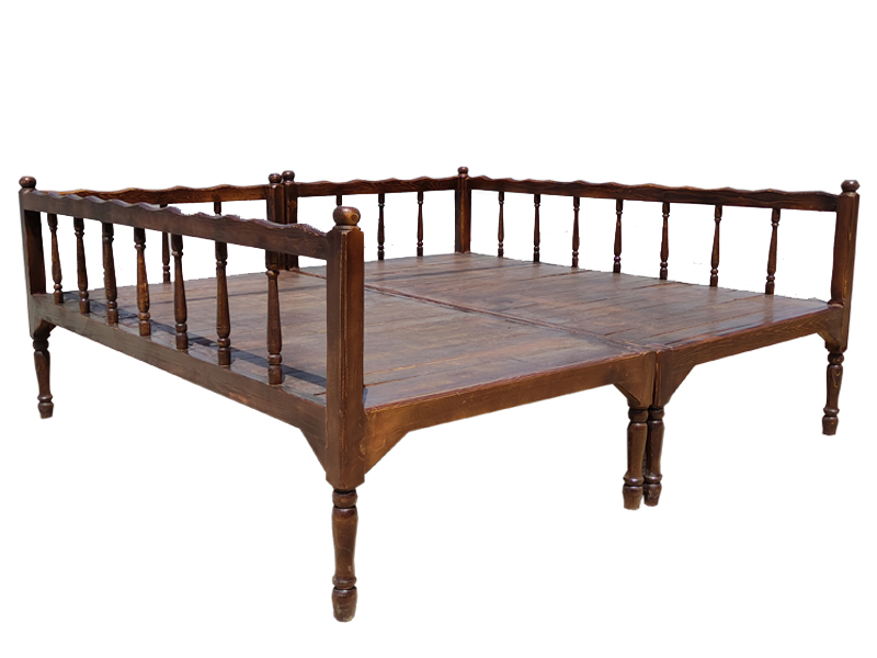 تخت سنتی ساده ست تخت nasr-x8sa سایز 2 در 2